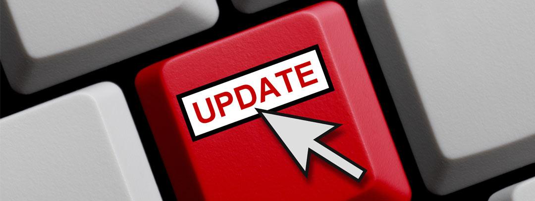 CMS TYPO3 empfohlenes Update von Google