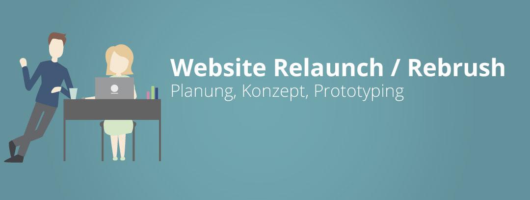 """Im zweiten Teil gehen wir mit den Phasen """"Planung"""", """"Konzept"""" und """"Prototyping"""" in die Planungs- und Entwicklungsphase Rebrush oder Relaunch Ihrer Webseite."""