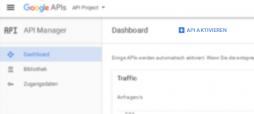 Google API Bibliothek aktivieren