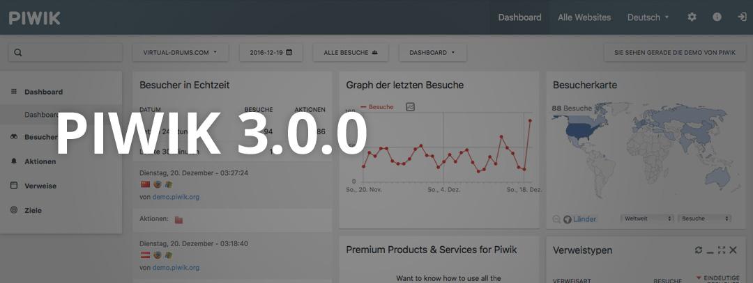 PIWIK 3.0.0 release