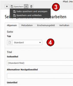 TYPO3 Handbuch v. 8 LTS - Seite speichern