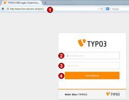 TYPO3 Handbuch v. 8 LTS - Anmeldung am Backend