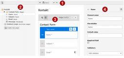 TYPO3 Handbuch v. 8 LTS - Modul WEB > Formulare - Die Bearbeitungsmaske