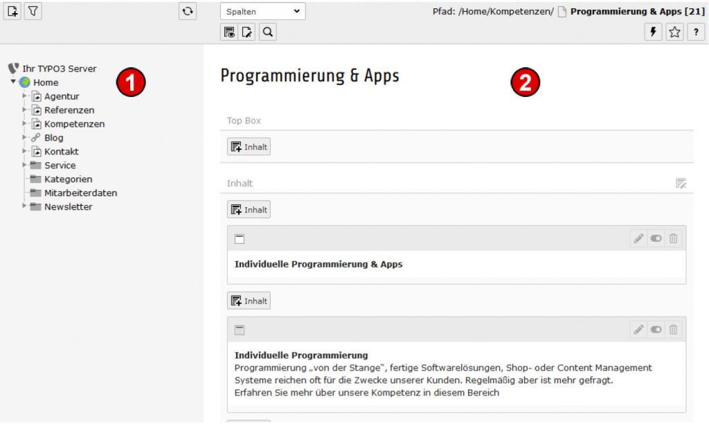 TYPO3 Handbuch v. 8 LTS - Modul WEB > Seite
