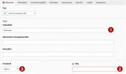 TYPO3 Handbuch v. 8 LTS - Seite Typ Externe URL