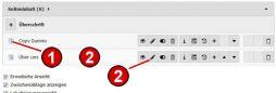 TYPO3 Handbuch v. 8 LTS - Modul WEB > Liste - Die Bearbeitungsfunktionen
