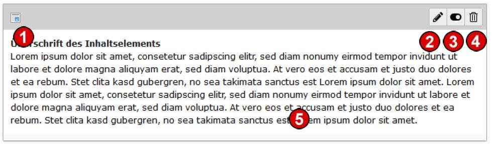 TYPO3 v8 Handbuch Bearbeitung Seiteninhalte