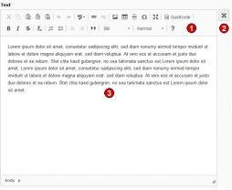 TYPO3 v8 Handbuch Inhaltstyp Text