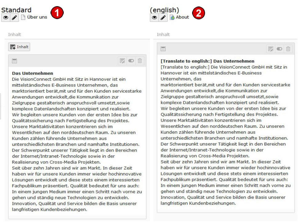 TYPO3 v8 Handbuch Inhalte mehrsprachig verwalten