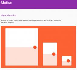 Bewegung, Google, Material Design