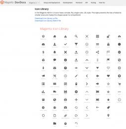 Icon Library von Magento