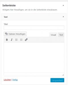 Wordpress Texteditor Medien einfügen